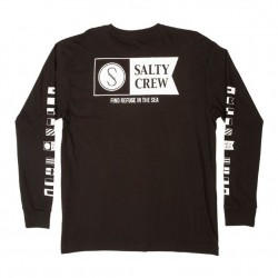 Salty Crew Long Sleeve T - Alpha in Black