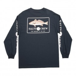 Salty Crew Long Sleeve T - Spot Tail in Navy