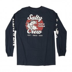 Salty Crew Long Sleeve T - Bait and Tackle in Navy