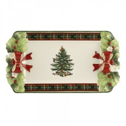 "SPODE ""Christmas Tree"" 12 Inch Tartan Tray"