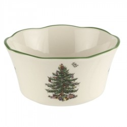 "SPODE ""Christmas Tree"" 4.5 Inch Scalloped Bowl"