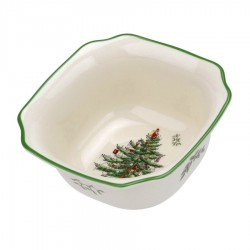 "SPODE ""Christmas Tree"" 5.5 Inch Square Bowl #1648784"