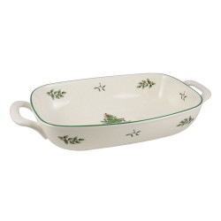 "SPODE ""Christmas Tree"" Bread Basket 14"" x 7.5"""
