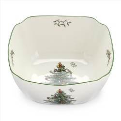 "SPODE ""Christmas Tree"" Large Square Bowl 10"""