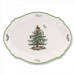 "SPODE ""Christmas Tree"" Oval Platter"