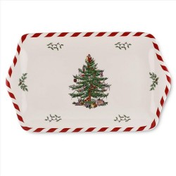 "SPODE ""Christmas Tree"" Peppermint Dessert Tray 12"""