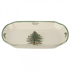 "SPODE ""Christmas Tree"" Rectangular Scalloped Tray"