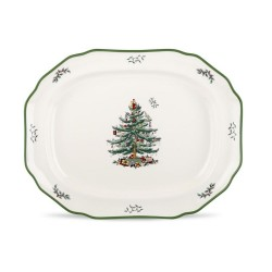 "SPODE ""Christmas Tree"" Sculpted Platter 19"""