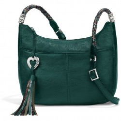 Brighton Baby Barbados Crossbody Hobo - Jewel Green