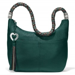 Brighton Zip Top Barbados Hobo - Jewel Green