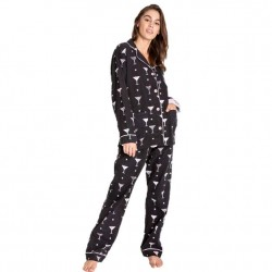 PJ Salvage Flannel Pajama Set - Happy Hour