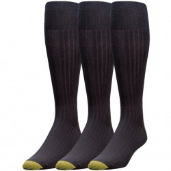 Gold Toe 3 pack Over-The-Calf - Cotton Black