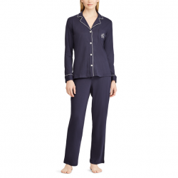 Lauren by Ralph Lauaren Cotton/Modal Pajama Set - Navy