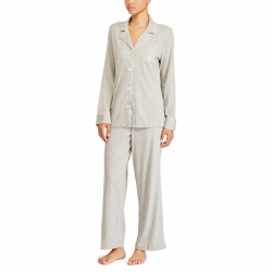 Lauren by Ralph Lauaren Cotton/Modal Pajama Set - Grey