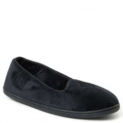 Dearfoam Closed Back Velour Slipper - Black