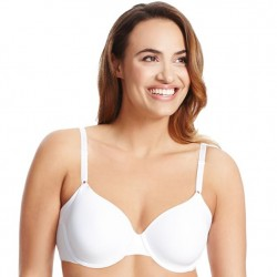 Olga No Side Effect Contour Underwire Bra - White