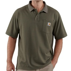 Carhartt Polo Shirt with Pocket - Moss