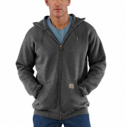 Carhartt Full Zip Hooded Sweatshirt - Carbon Heather