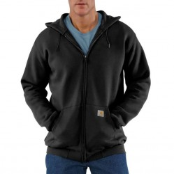 Carhartt Full Zip Hooded Sweatshirt - Black