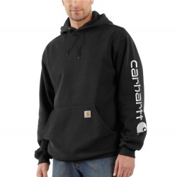 Carhartt Hooded Pullover Sweatshirt - Black