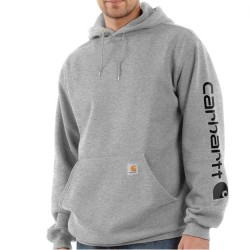 Carhartt Hooded Pullover Sweatshirt - Heather Grey