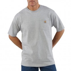 Carhartt Short Sleeve Pocket Tshirt - Heather Grey
