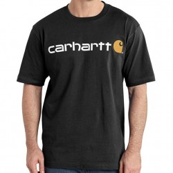 Carhartt Short Sleeve Logo T-Shirt - Black