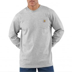 Carhartt Long Sleeve Pocket T-Shirt - Heather Grey