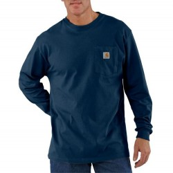 Carhartt Long Sleeve Pocket T-Shirt - Navy