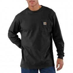 Carhartt Long Sleeve Pocket T-Shirt - Black
