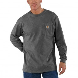 Carhartt Long Sleeve Pocket T-Shirt - Carbon Heather
