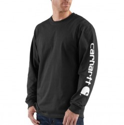 Carhartt Long Sleeve Logo T-Shirt - Black