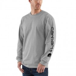 Carhartt Long Sleeve Logo T-Shirt - Heather Grey
