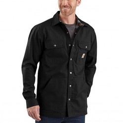 Carhartt Ripstop Shirt Jacket with Flannel Lining - Black