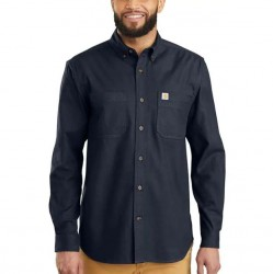 Carhartt Flannel Shirt with Stretch - Navy