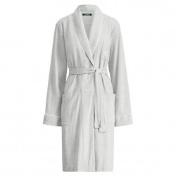 Lauren by Ralph Lauren Cotton Robe - Grey