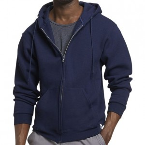 Russell Athletic Dri-Power Performance Full Zip Hooded Sweatshirt Style #697HBMI Navy
