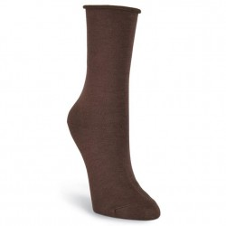 KBell Relaxed Top Crew Sock - Brown