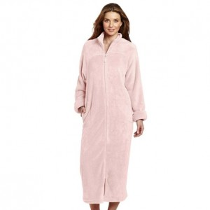 Zip Up Robe - Light Pink