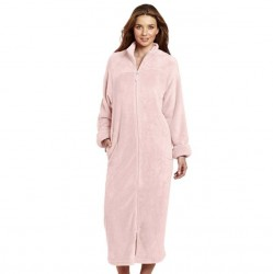 Casual Moments Zip Up Robe - Light Pink