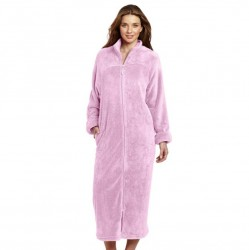 Casual Moments Zip Up Robe - Lavender
