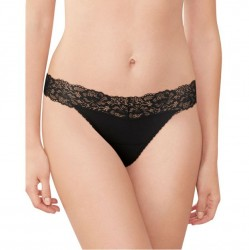 Maidenform Lace Thong - Black