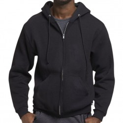 Russell Athletic Dri-Power Performance Full Zip Hooded Sweatshirt Style #697HBM0 Black