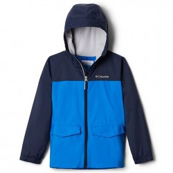Boys 8 to 20 Columbia Fleece Lined Rain Jacket - Super Blue/Navy
