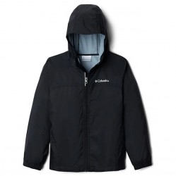 Boys 8 to 20 Columbia Rain Jacket - Black