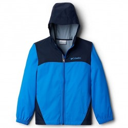 Boys 8 to 20 Columbia Rain Jacket - Hyper Blue