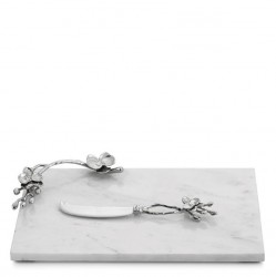 Michael Aram White Orchid Cheeseboard With Knife