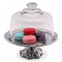 Arthur Court Grape Plate with Glass Dome