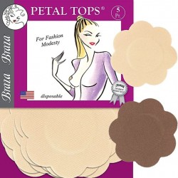 Braza Disposable Adhesive Petal Covers 5 Pack - Beige