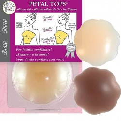 "Braza 2"" Silicone Gel Petal Covers - Beige"